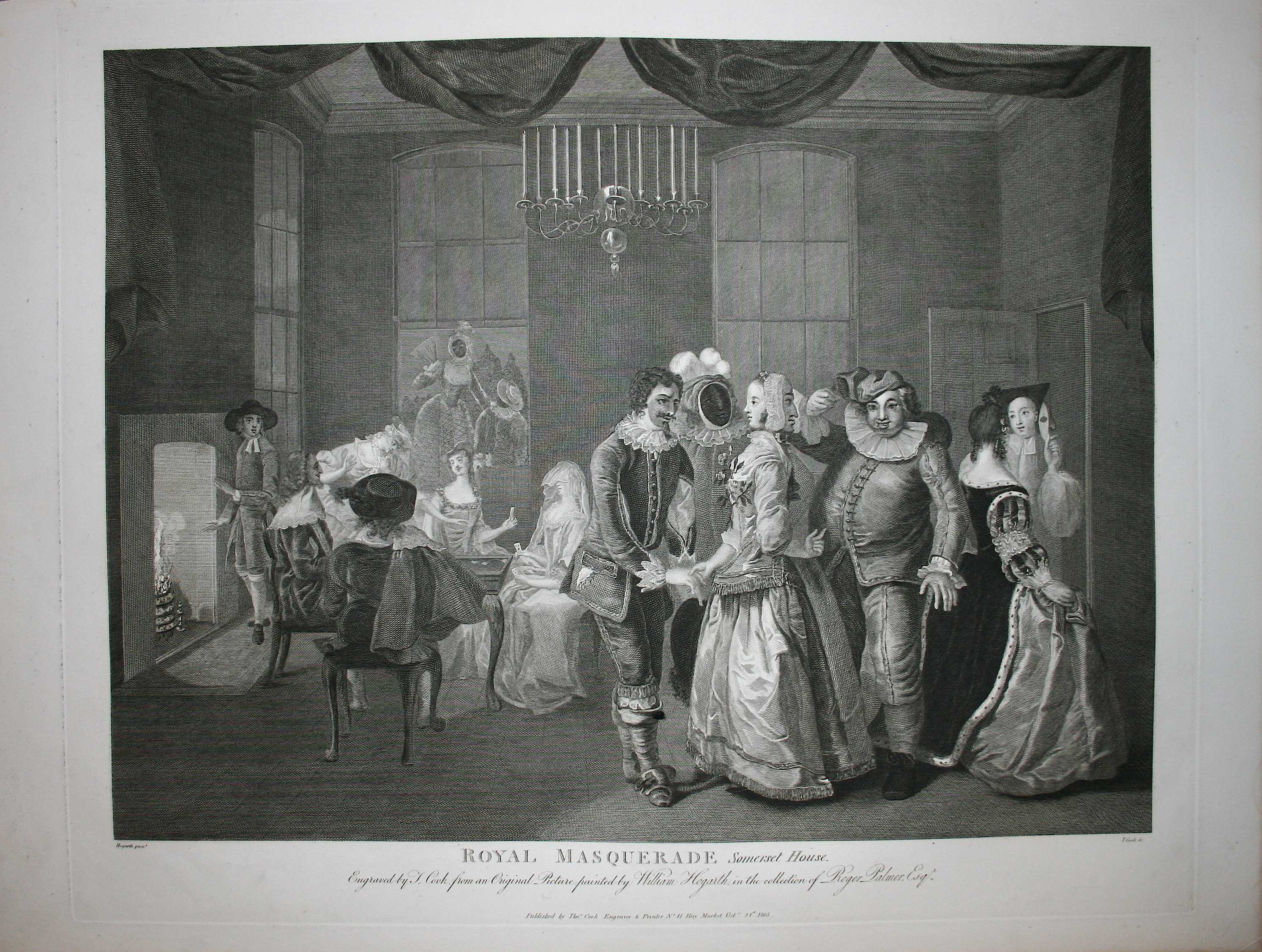 Royal masquerade - Hogarth / Heath 1822