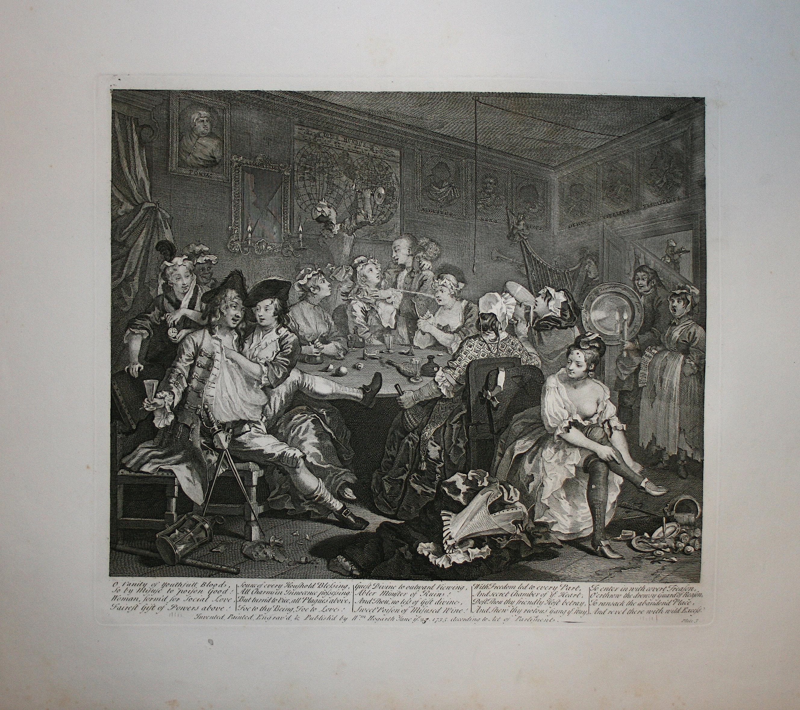 La carriera del libertino - Tav. III Hogarth / Heath 1822
