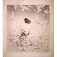 Les Colombes / Doves - Louis Icart 1922