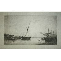 Harbour at dawn - A. Appian 1872
