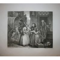 La carriera della prostituta - Tav. I - Hogarth / Heath 1822