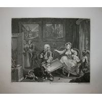 La carriera della prostituta - Tav. II - Hogarth / Heath 1822