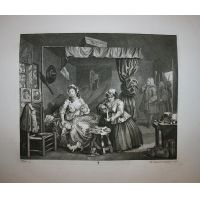 La carriera della prostituta - Tav. III - Hogarth / Heath 1822
