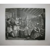 La carriera della prostituta - Tav. IV - Hogarth / Heath 1822