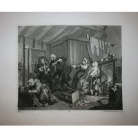La carriera della prostituta - Tav. V - Hogarth / Heath 1822
