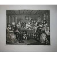 La carriera della prostituta - Tav. VI - Hogarth / Heath 1822