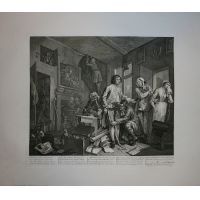 La carriera del libertino - Tav. I - Hogarth / Heath 1822