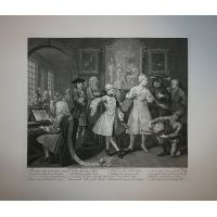 La carriera del libertino - Tav. II - Hogarth / Heath 1822
