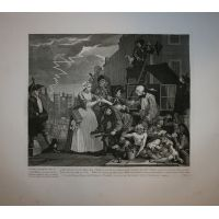 La carriera del libertino - Tav. IV - Hogarth / Heath 1822