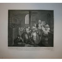 La carriera del libertino - Tav. V - Hogarth / Heath 1822