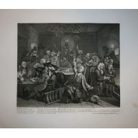 La carriera del libertino - Tav. VI - Hogarth / Heath 1822