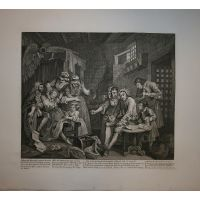 La carriera del libertino - Tav. VII - Hogarth / Heath 1822
