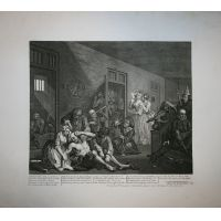 La carriera del libertino - Tav. VIII - Hogarth / Heath 1822