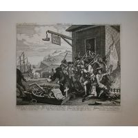 L'Invasione - Tav. I - Francia - Hogarth / Heath 1822