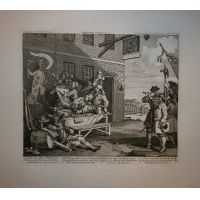 L'Invasione - Tav. II - Inghilterra - Hogarth / Heath 1822