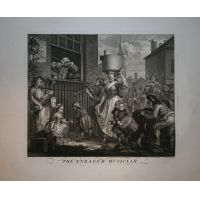 Il musicista furioso - Hogarth / Heath 1822