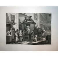 A country Inn Yard - Hogarth / Heath 1822