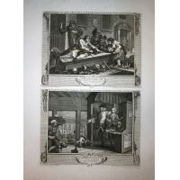 Operosità e indolenza - Tav. III & IV Hogarth / Heath 1822