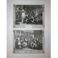Operosità e indolenza - Tav. IX & X Hogarth / Heath 1822