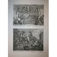 Hudibras Tav. I & II - Hogarth / Heath 1822