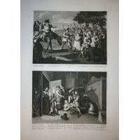 Hudibras Tav. III & IV - Hogarth / Heath 1822