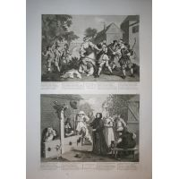 Hudibras - tav. V & VI - Hogarth / Heath 1822