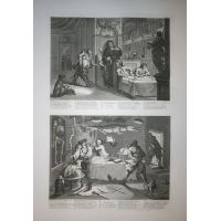 Hudibras - Tav. VII & VIII - Hogarth / Heath 1822