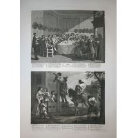 Hudibras - Tav. IX & X - Hogarth / Heath 1822