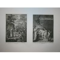 Don Chisciotte - Tav. I & II - Hogarth / Heath 1822