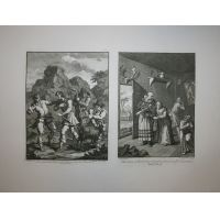 Don Chisciotte - Tav. V & VI - Hogarth / Heath 1822